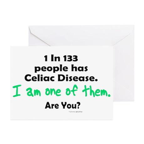 1 In 133 Has Celiac Disease 1.1 Greeting Cards (Pk