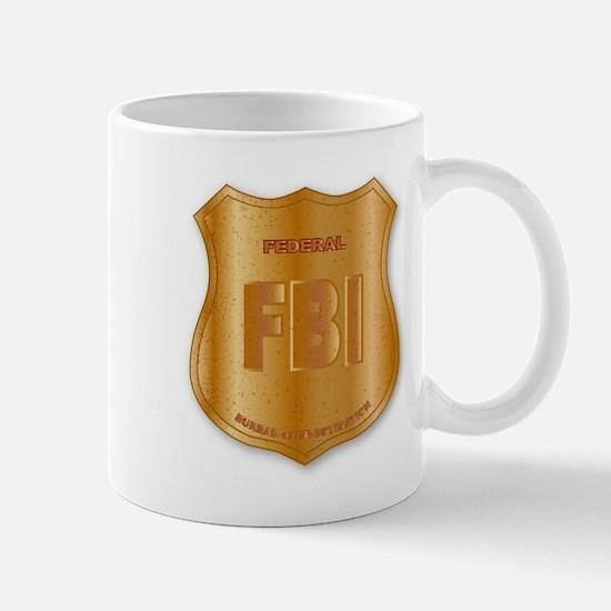 FBI Spoof Shield Badge Mugs