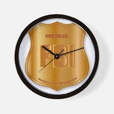 FBI Spoof Shield Badge Wall Clock