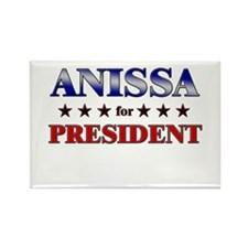 ANISSA for president Rectangle Magnet