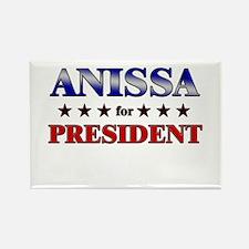 ANISSA for president Rectangle Magnet