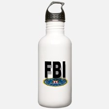 FBI Seal With Text Water Bottle