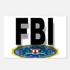 FBI Seal With Text Postcards (Package of 8)