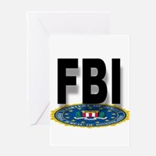 FBI Seal With Text Greeting Cards