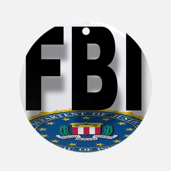 FBI Seal With Text Round Ornament