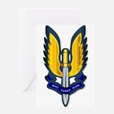 Special Air Service Badge Greeting Cards
