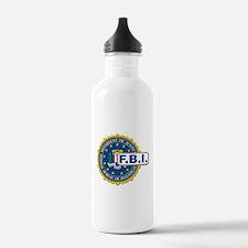 FBI Seal Mockup Water Bottle