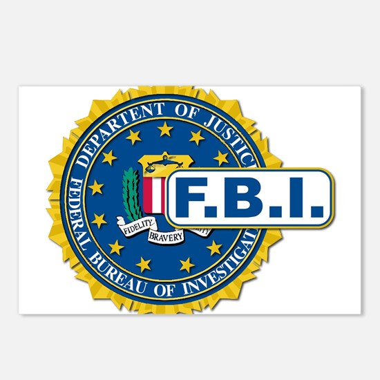 FBI Seal Mockup Postcards (Package of 8)