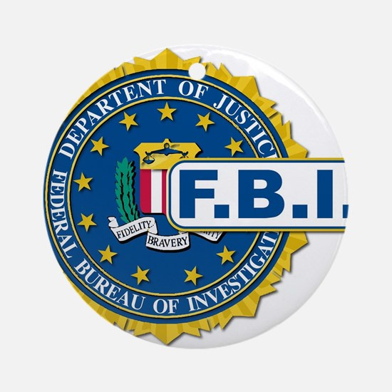 FBI Seal Mockup Round Ornament