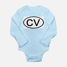 CV - Initial Oval Infant Creeper Body Suit