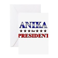 ANIKA for president Greeting Card