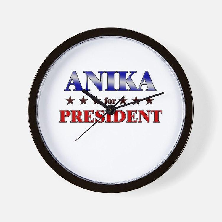 ANIKA for president Wall Clock