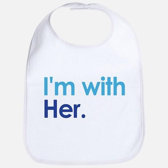 I'm With Her Bib