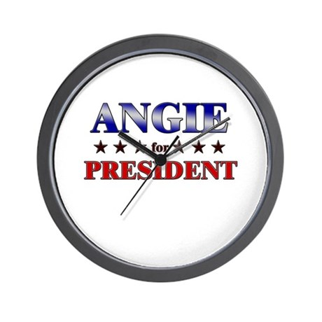 ANGIE for president Wall Clock