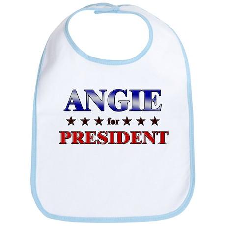 ANGIE for president Bib