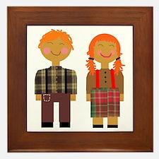 Ann and Andy 3 Framed Tile