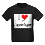 I Love My Angelologist Kids Dark T-Shirt