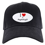 I Love My Angelologist Black Cap