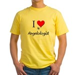 I Love My Angelologist Yellow T-Shirt