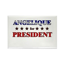 ANGELIQUE for president Rectangle Magnet (10 pack)
