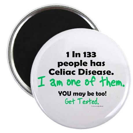 """1 In 133 Has Celiac Disease 1.2 2.25"""" Magnet (100"""