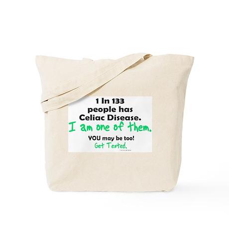 1 In 133 Has Celiac Disease 1.2 Tote Bag
