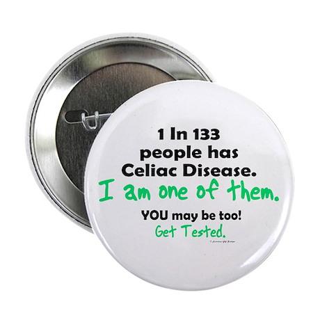 "1 In 133 Has Celiac Disease 1.2 2.25"" Button"