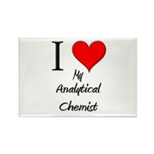 I Love My Analytical Chemist Rectangle Magnet