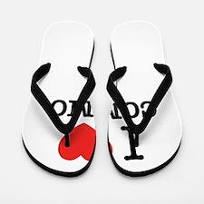 I Love COMMO Flip Flops