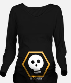 Bones Skull Dark Onl Long Sleeve Maternity T-Shirt