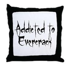 Addicted to Evercrack Throw Pillow