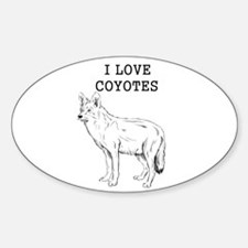 I Love Coyotes Decal