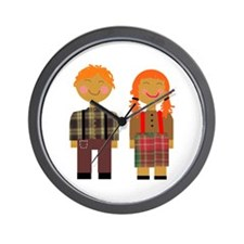 Ann and Andy 3 Wall Clock