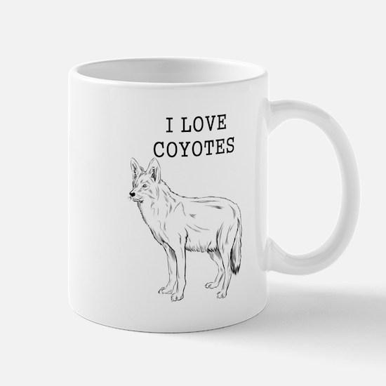 I Love Coyotes Mugs
