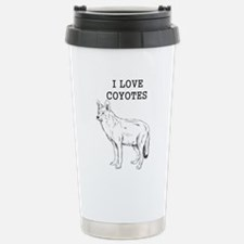 I Love Coyotes Stainless Steel Travel Mug