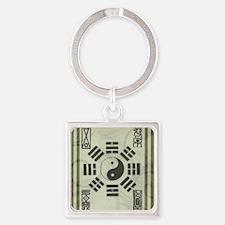 Cool Pa kua Square Keychain