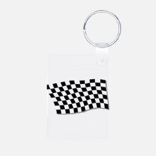 Chequered Flag Fluttering Keychains