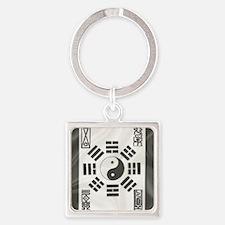 Funny Pa kua Square Keychain