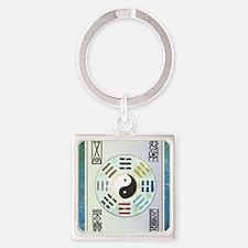 Unique Pa kua Square Keychain