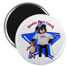 """Papa Bear- Best Coach 2.25"""" Magnet (10 pack)"""