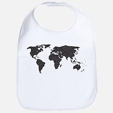 World Outline Dots Bib
