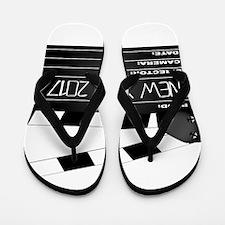 New Year 2017 Clapperboard Flip Flops