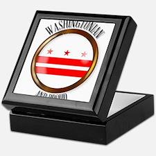 Washington DC Proud Flag Button Keepsake Box