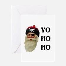 PIRATE SANTA Greeting Cards