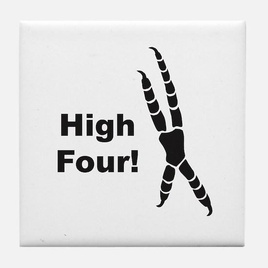 High Four Tile Coaster
