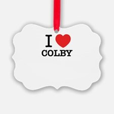 I Love COLBY Ornament