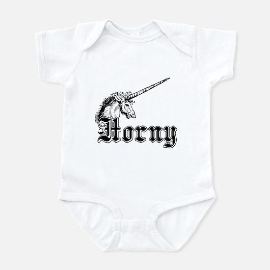 Horny Unicorn Adult Humor Infant Bodysuit