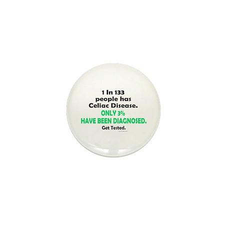 1 In 133 Has Celiac Disease 1.3 Mini Button (10 pa