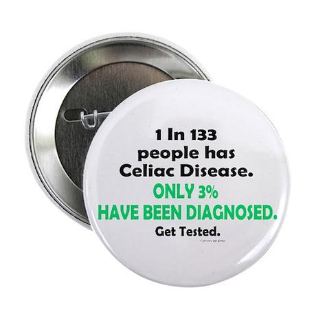 "1 In 133 Has Celiac Disease 1.3 2.25"" Button (10 p"