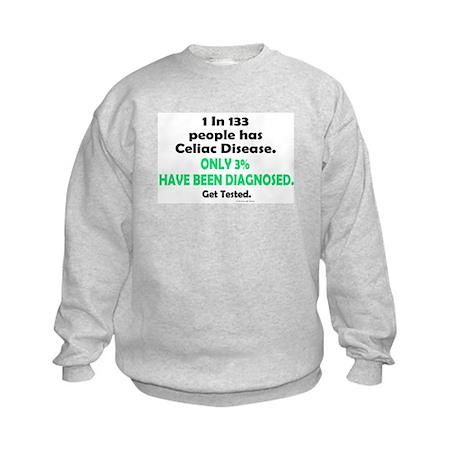 1 In 133 Has Celiac Disease 1.3 Kids Sweatshirt
